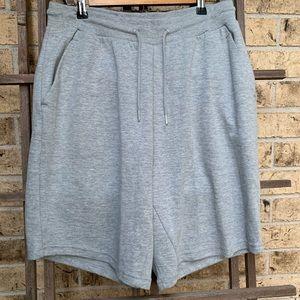 Zara shorts plush gray long inseam Athleisure lg